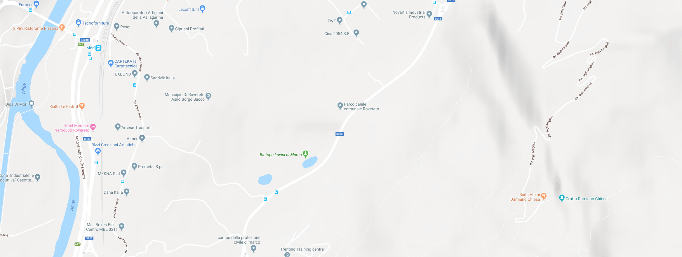 Associazione Le Fusa - Gattile di Rovereto - Dove siamo - Google Maps
